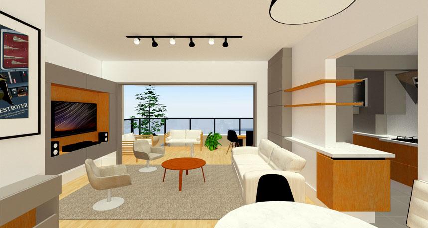 Projeto de interiores - adequação de espaço
