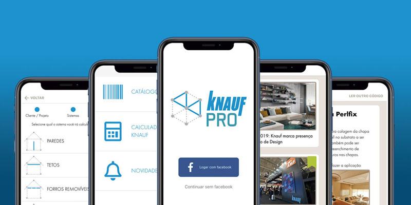 Aplicativo da Knauf auxilia profissionais em projetos de drywall