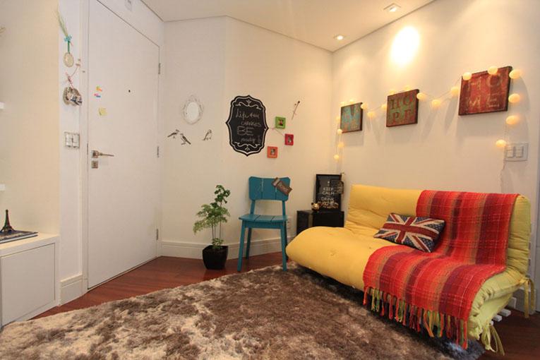 Clima zen no apê/estúdio 35 m², em São Paulo