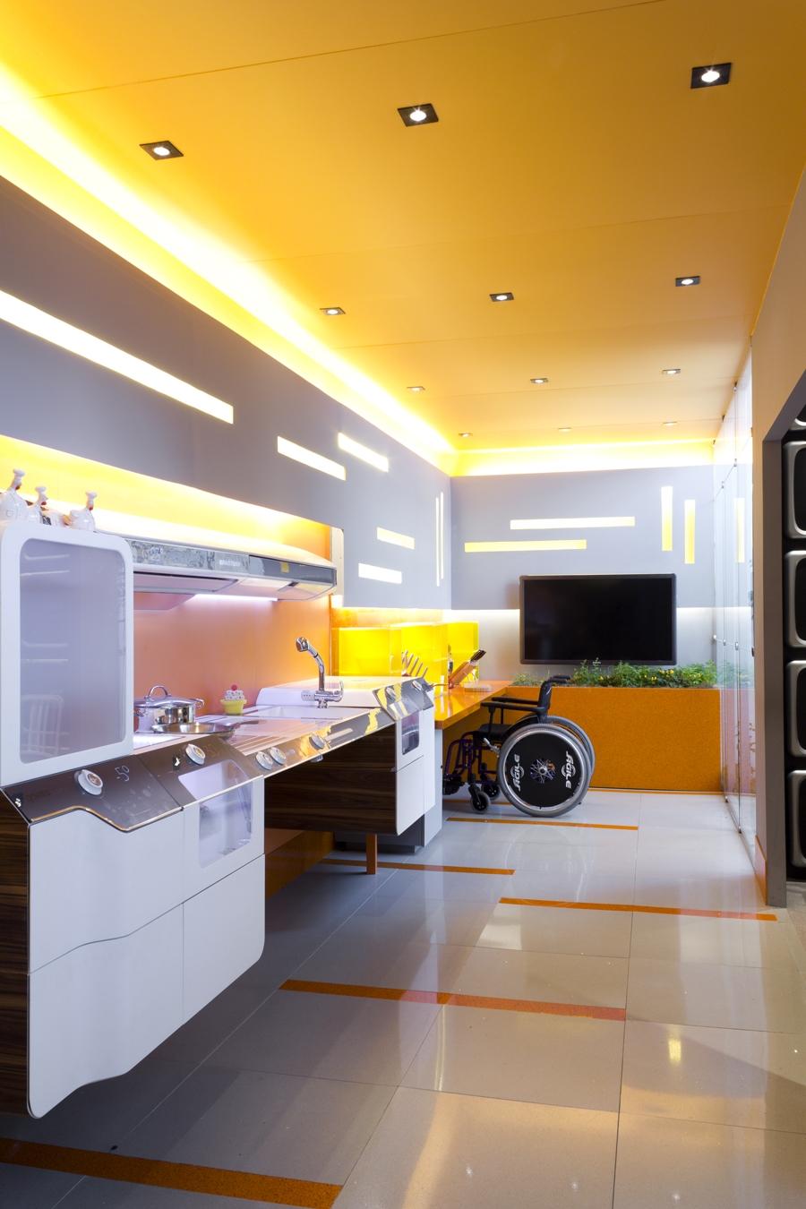 Cozinha Futurista Do Bgourmet Usa Ilumina O Led Guia