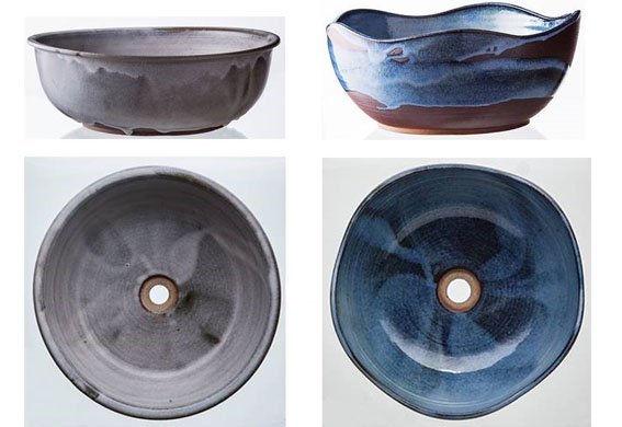 As cubas Bianchetto e Onda Blu Mare medem 38 x 14 cm