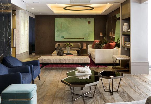 Denise Barretto aposta no contraponto entre os materiais para criar apartamento cheio de personalidade