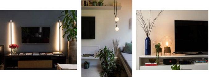 Salas de TV de diferentes estilos em projetos do designer de interiores Henrique Freneda; do escritório Oliva Arquitetura; e da arquiteta Ana Yoshida (Crédito Emerson Rodrigues)
