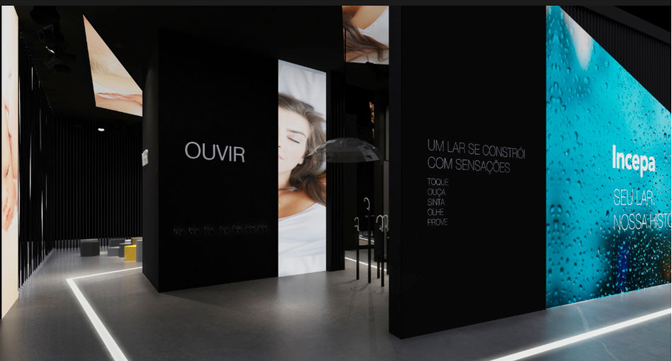 Estande da Incepa na Expo Revestir 2019 explora os cinco sentidos