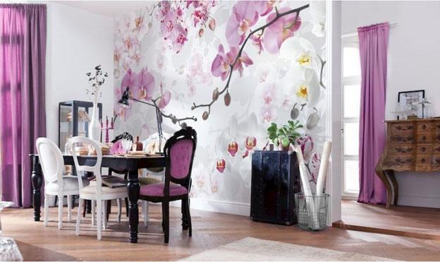 Como inserir a cor Ultra Violet na decoração com a K&G Papel de Parede