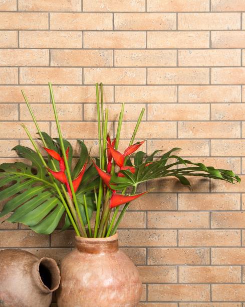 Revestimento HD da Cerâmica Atlas cria o charmoso efeito tijolinho
