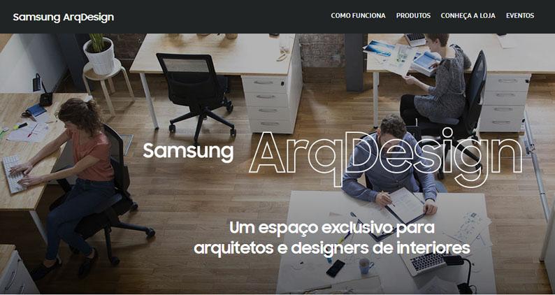 Samsung cria plataforma para arquitetos e designers de interiores