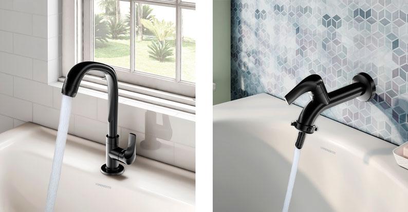 Linha Fitt leva design, cor e praticidade para banheiros, cozinhas e áreas de serviço
