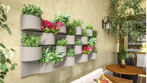 Vaso para jardim vertical é lançamento da Japi para a primavera